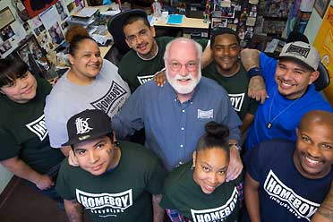 Father Greg Boyle and Homeboy Industries participants